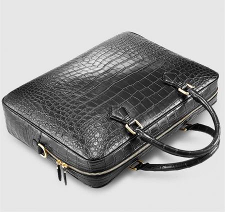 Fashion Alligator Bag, Luxury Alligator Briefcase for Men-Top