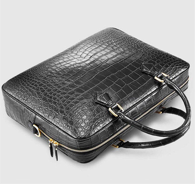 Fashion Alligator Bag, Luxury Alligator Briefcase for Men-Top