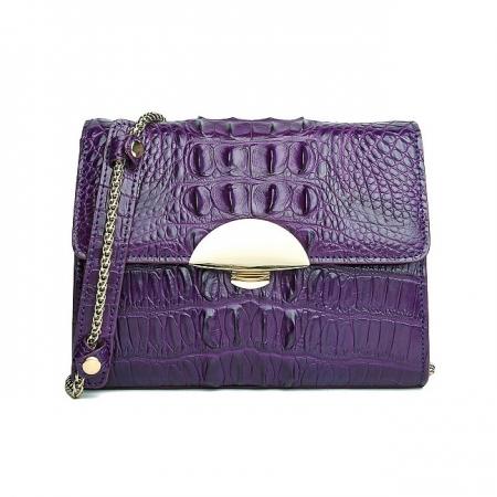 Fashion Alligator Crossbody, Shoulder, Purse-Purple