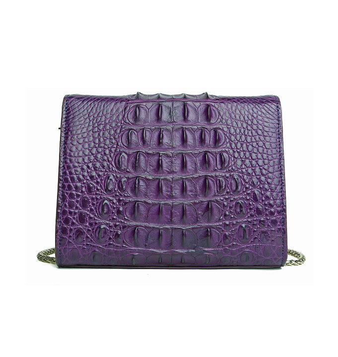 Fashion Alligator Crossbody, Shoulder, Purse-Purple-Back