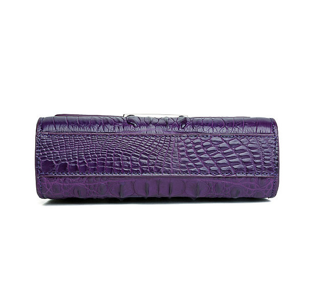 Fashion Alligator Crossbody, Shoulder, Purse-Purple-Bottom