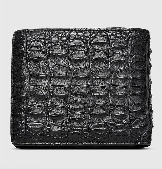 Fashion Bifold Genuine Crocodile Wallet-Back
