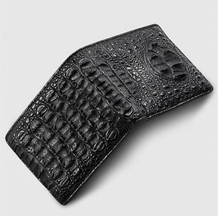 Fashion Bifold Genuine Crocodile Wallet-Face