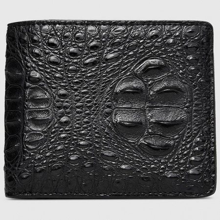 Fashion Bifold Genuine Crocodile Wallet-Front