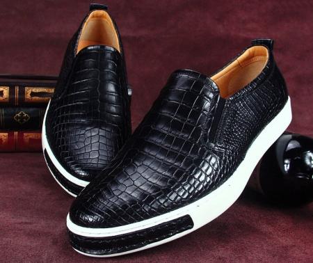Fashion Genuine Alligator Leather Shoes-Exhibition
