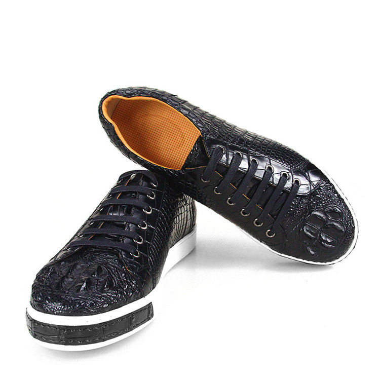 Fashion Genuine Crocodile Leather Shoes-2