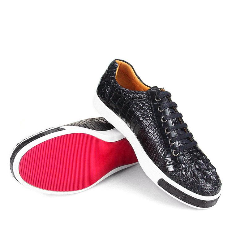 Fashion Genuine Crocodile Leather Shoes-3