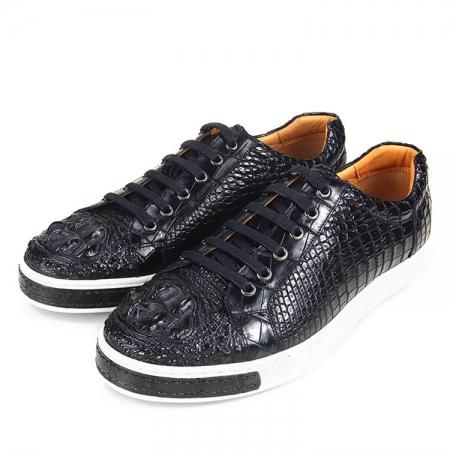 Fashion Genuine Crocodile Leather Shoes-4