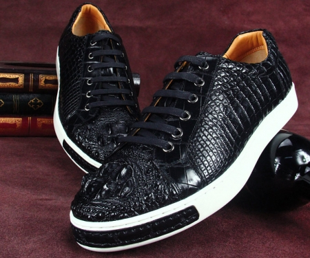 Fashion Genuine Crocodile Leather Shoes-Exhibition