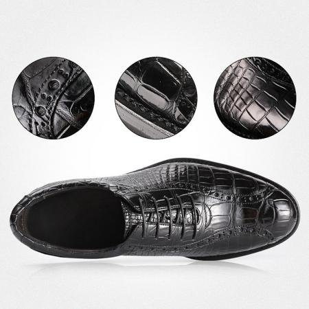 Genuine Alligator Leather Dress Formal Shoes-Details