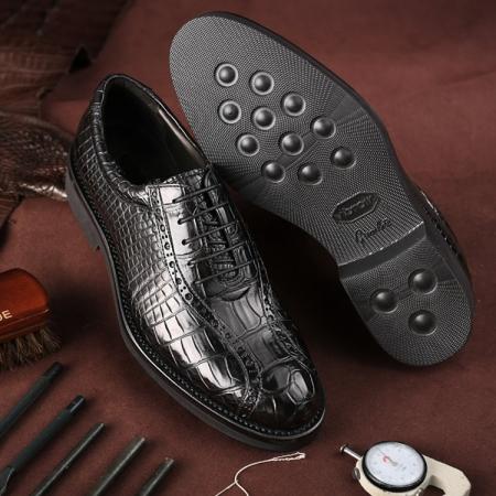 Genuine Alligator Leather Dress Formal Shoes-Exhibition-1