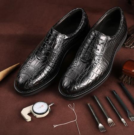 Genuine Alligator Leather Dress Formal Shoes-Exhibition