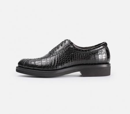Genuine Alligator Leather Dress Formal Shoes-Side