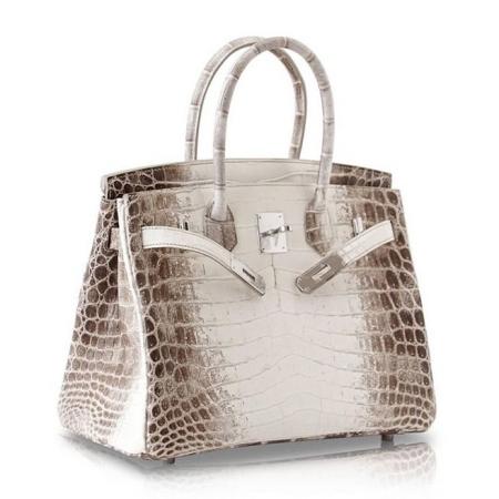 Genuine Alligator Leather Handbag-White
