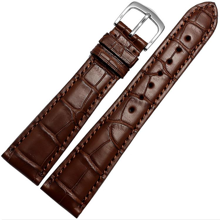 Genuine Alligator Leather Watch Strap, Classic Alligator Apple Watch Strap-Brown