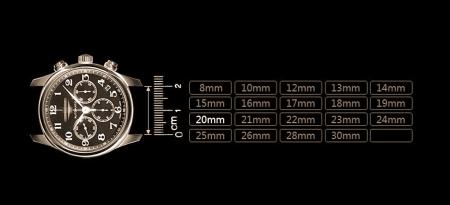 Genuine Alligator Leather Watch Strap-Size