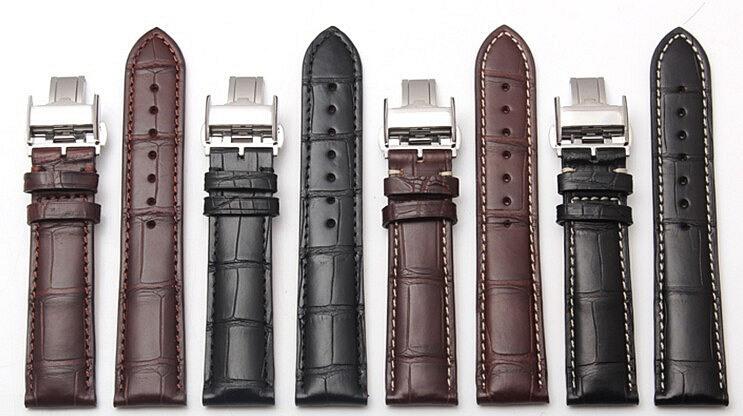 Genuine Alligator Watch Strap With Butterfly Buckle, Alligator Apple Watch Band-Exhibition