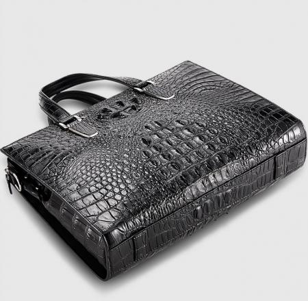 Genuine Crocodile Bag,Crocodile Briefcase Laptop Bag for Men