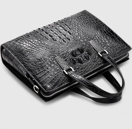 Genuine Crocodile Bag,Crocodile Briefcase Laptop Bag for Men-Exhibition