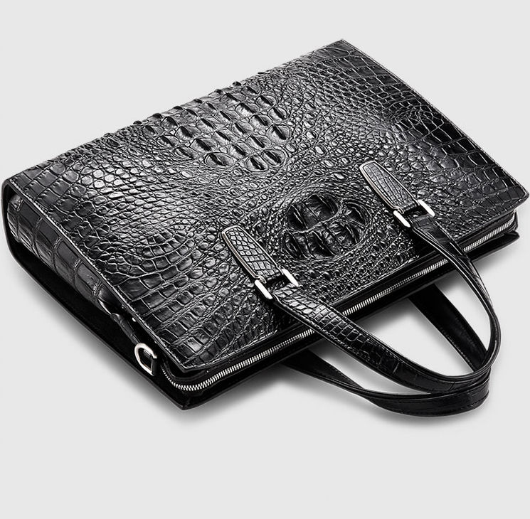 Genuine Crocodile Bag,Crocodile Briefcase Laptop Bag for Men-Exhibition