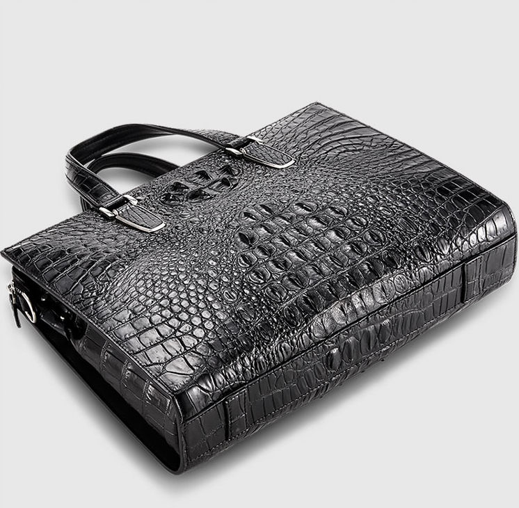 Genuine Crocodile Bag,Crocodile Briefcase Laptop Bag for Men