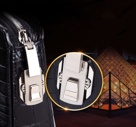 Genuine Crocodile Briefcase, Crocodile Business Bag for Men-Code Lock