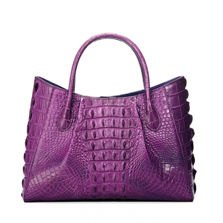 Genuine Crocodile Leather Handbag, Crocodile Leather City Bag-Back