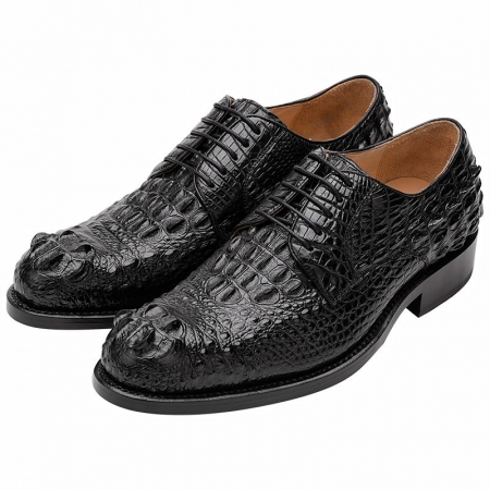Genuine Crocodile Leather Shoes-Black