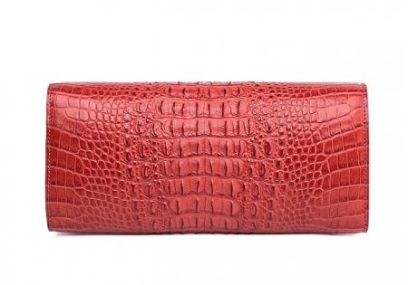 Genuine Crocodile Purse, Crocodile Clutch Bag-Back