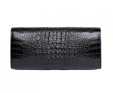 Genuine Crocodile Purse, Crocodile Clutch Bag-Black-Back