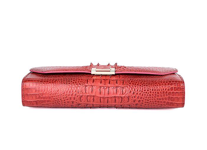 Genuine Crocodile Purse, Crocodile Clutch Bag-Bottom