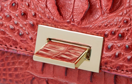 Genuine Crocodile Purse, Crocodile Clutch Bag-Button