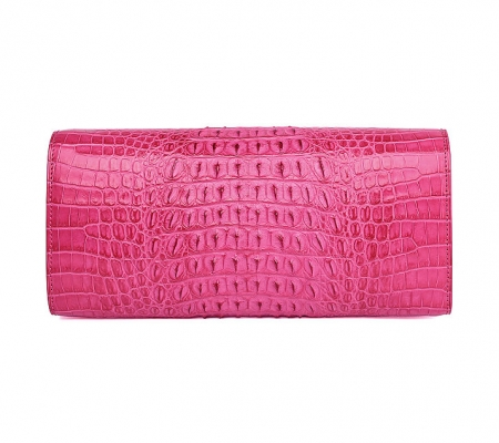 Genuine Crocodile Purse, Crocodile Clutch Bag-Pink-Back