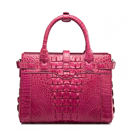 Genuine Crocodile Leather Handbag, Ladies Crocodile Leather Crossbody Bag-Back