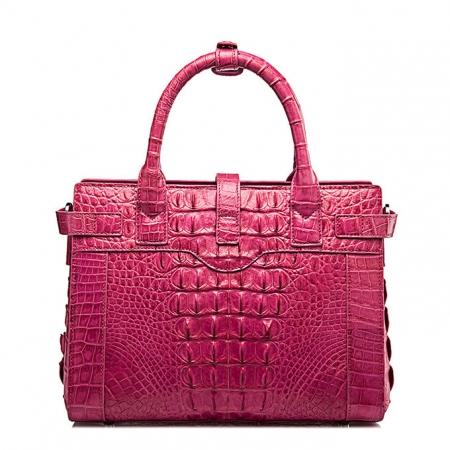 Genuine Crocodile Leather Handbag, Ladies Crocodile Leather Crossbody Bag-Back
