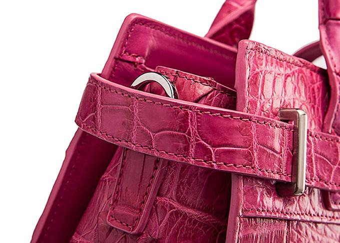 Genuine Crocodile Leather Handbag, Ladies Crocodile Leather Crossbody Bag-Detail