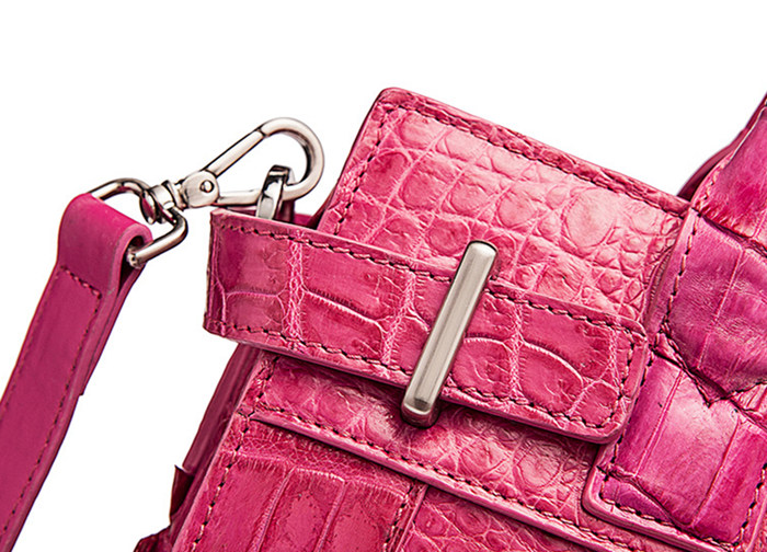 Genuine Crocodile Leather Handbag, Ladies Crocodile Leather Crossbody Bag-Details