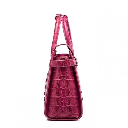 Genuine Crocodile Leather Handbag, Ladies Crocodile Leather Crossbody Bag-Side