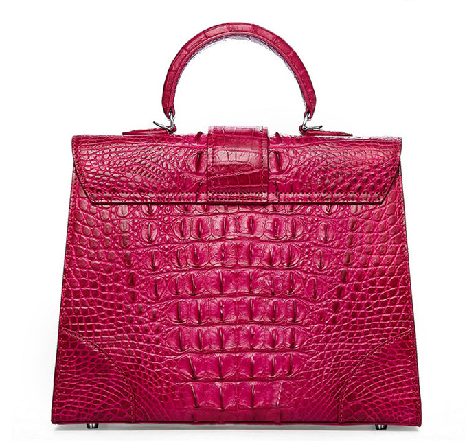 Genuine Crocodile Leather Handbag, Shoulder Bag, Crossbody Bag for Women-Back