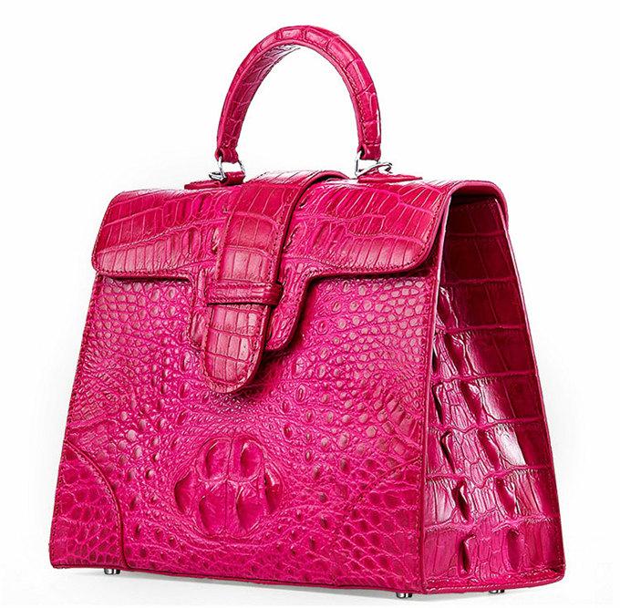 Genuine Crocodile Leather Handbag, Shoulder Bag, Crossbody Bag for Women-Left