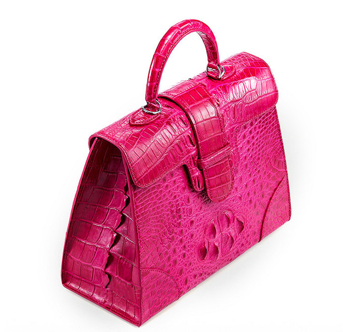 Genuine Crocodile Leather Handbag, Shoulder Bag, Crossbody Bag for Women-Right
