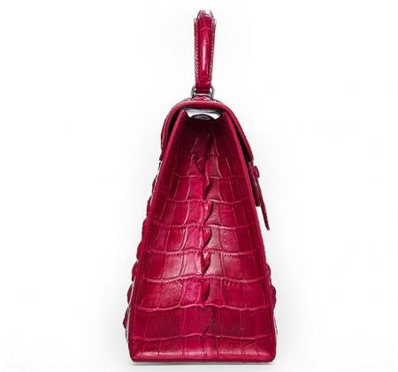 Genuine Crocodile Leather Handbag, Shoulder Bag, Crossbody Bag for Women-Side
