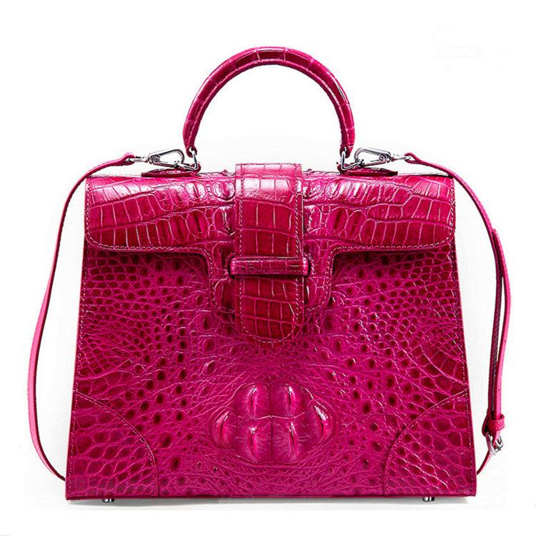 Genuine Crocodile Leather Handbag, Shoulder Bag, Crossbody Bag for Women