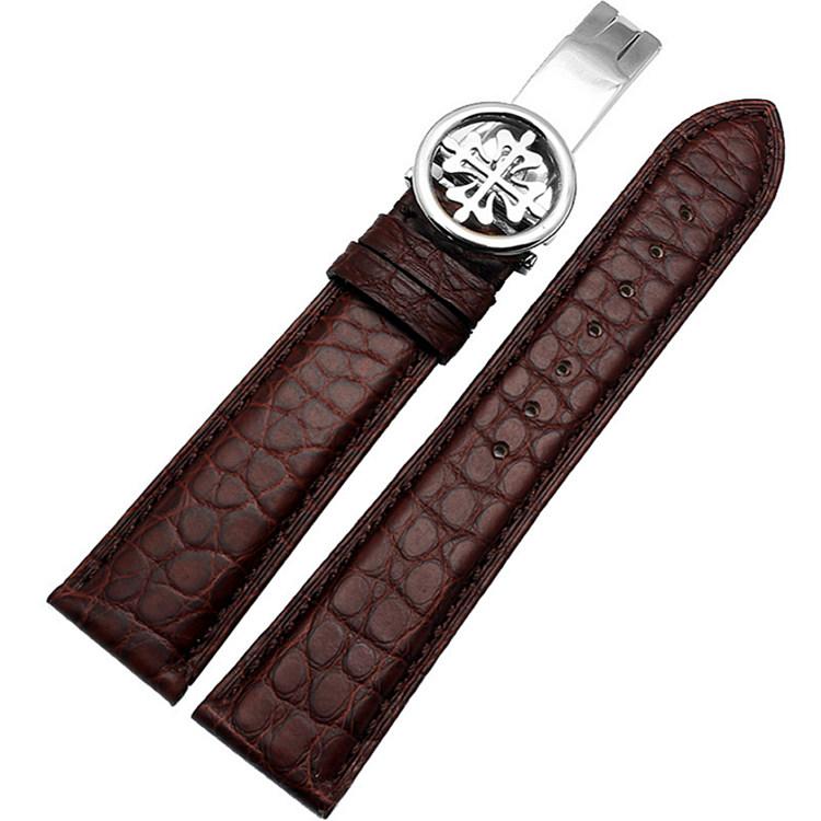 Handmade Genuine Alligator Leather Watch Band-Brown