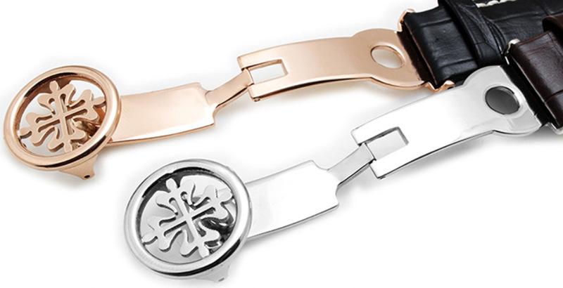 Handmade Genuine Alligator Leather Watch Band-Buckle