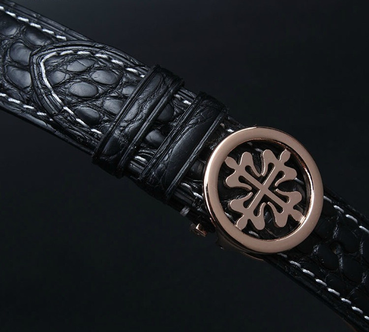 Handmade Genuine Alligator Leather Watch Band-Details