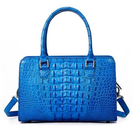 Ladies Crocodile Shoulder Bag, Crocodile Handbag-Back