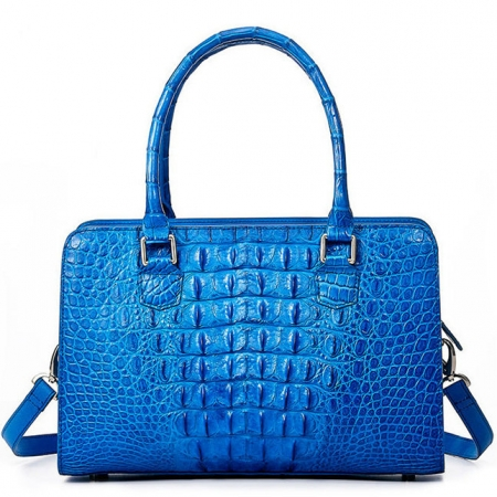 Ladies Crocodile Shoulder Bag, Crocodile Handbag-Back