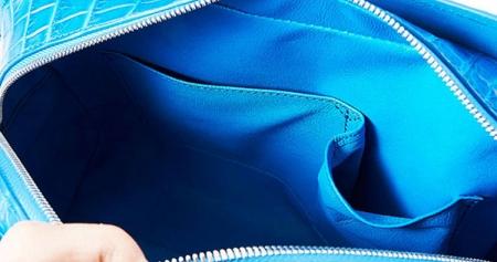 Ladies Crocodile Shoulder Bag, Crocodile Handbag-Inside