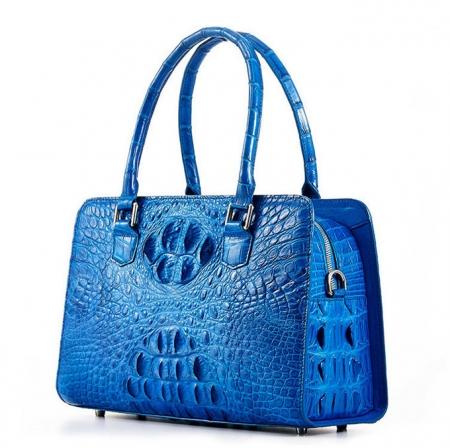 Ladies Crocodile Shoulder Bag, Crocodile Handbag-Right